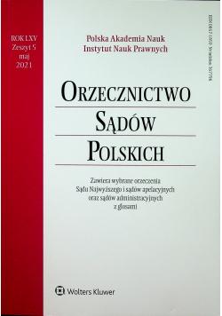 Orzecznictwo Sądów Polskich Rok LXV Zeszyt 5