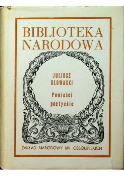 Słowacki Powieści poetycki