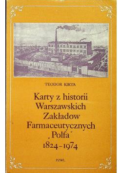 Karty z historii warszawskich Zakładów Farmaceutycznych Polfa