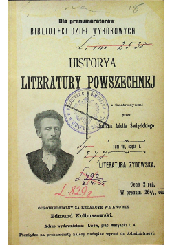 Historya literatury powszechnej Tom VII 1903r