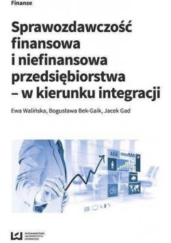Sprawozdawczość finansowa i niefinansowa przedsiębiorstwa