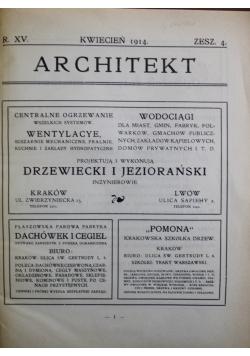 Architekt Zeszyt 4 1914 r.