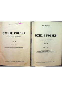 Dzieje Polski Tom I i II 1938r