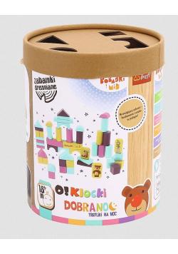 Zabawka drewniana - O!Klocki. Bobaski i Miś TREFL