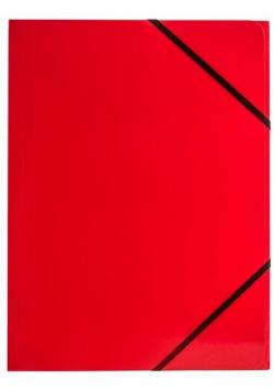 Teczka A4 kart. z gumką nar. czerw (6szt.) BT600-C