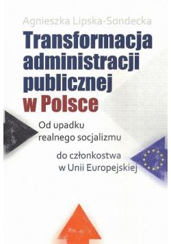 Transformacja administracji publicznej w Polsce