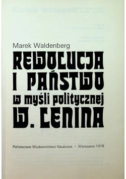 Rewolucja i państwo w myśli politycznej W Lenina