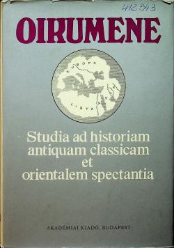 Studia ad historiam antiquam classican et orientalem spectania