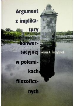 Argument z implikatury konwersacyjnej w polemikach filozoficznych autograf Puczyłowskiego