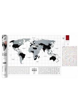 Mapa zdrapka - Travel Map Flags World