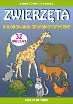 Zwierzęta kolorowanki grafomotoryczne