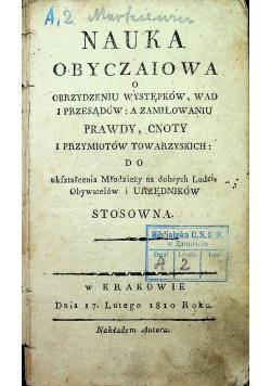 Nauka obyczaiowa o obrzydzeniu występków wad i przesądów 1810 r