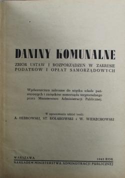 Daniny komunalne 1945 r