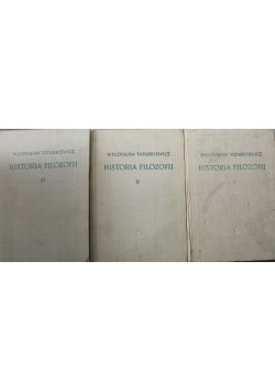 Historia filozofii tomy od I do III