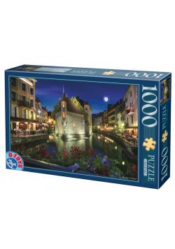 Puzzle 1000 Francja, Annecy nocą