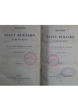 Histoire de Sainte Chantal Tom I i II  1892 r.