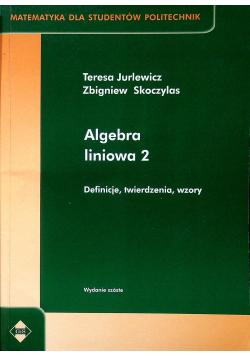 Algebra liniowa 2 Definicje twierdzenia wzory