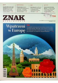 Znak Miesięcznik 738 Wpatrzeni w Europę