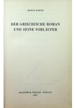 Der griechische roman und seine vorlaufer