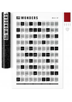 Mapa zdrapka - #100 Bucketlist Wonders Edition