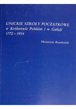 Unickie szkoły początkowe w Królestwie Polskim i w Galicji 1772 1914