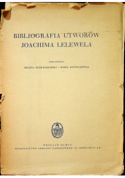 Biografia utworów Joachima Lelewela
