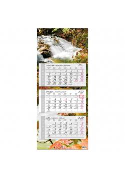 Kalendarz 2022 trójdzielny główka płaska Woda