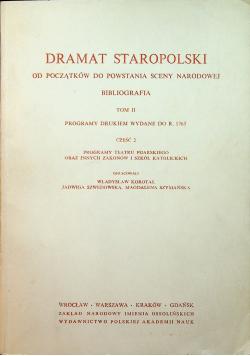 Dramat staropolski tom  II część 2
