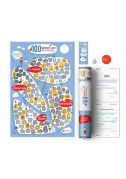 Mapa zdrapka - #100 Junior Life Edition