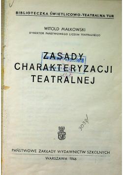 Zasady charakteryzacji teatralnej 1946 r.