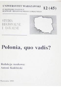 Polonia quo vadis
