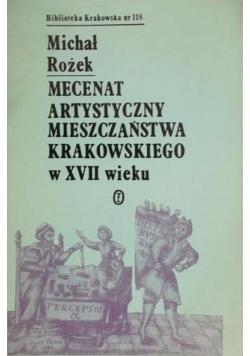 Mecenat artystyczny mieszczaństwa krakowskiego w XVII wieku