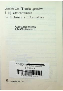 Teoria grafów i jej zastosowania w technice i informatyce