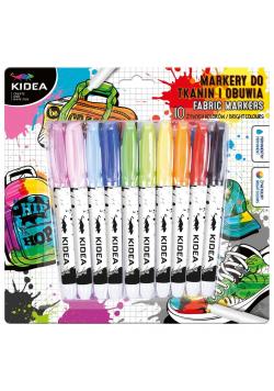 Markery do obuwia i tkanin 10 kolorów KIDEA