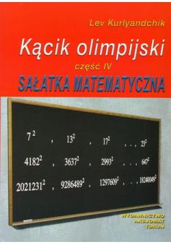 Kącik olimpijski  Sałatka matematyczna część IV