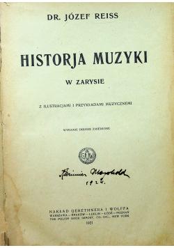 Historja muzyki w zarysie 1921 r