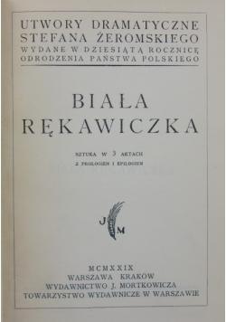 Biała rękawiczka 1929 r.