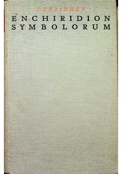 Enchiridion Symbolorum 1932r