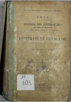Litterature Francaise 1900 r.