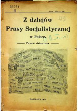 Z dziejów prasy socjalistycznej w Polsce 1919 r