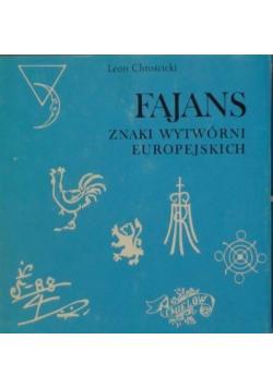 Fajans znaki wytwórni europejskiej