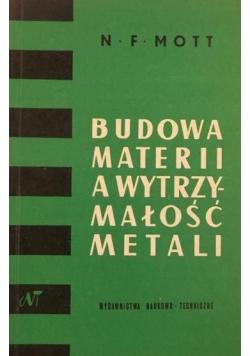 Budowa materii a wytrzymałość metali