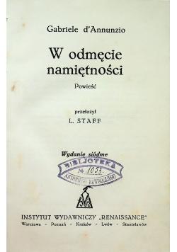 O odmęcie namiętności 1930 r.