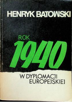 Rok 1940 w dyplomacji europejskiej