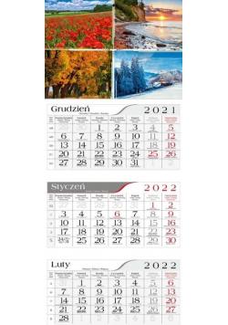 Kalendarz 2022 Trójdzielny 4 pory roku CRUX