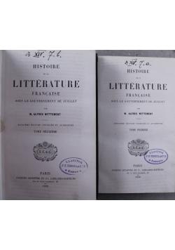 Histoire de la Litterature Francaise 2 tomy 1859 r.