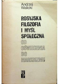 Rosyjska Filozofia i myśl społeczna od oświecenia do marksizmu