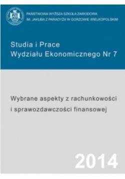 Wybrane aspekty z rachunkowości i sprawozdawczości finansowej