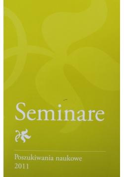 Seminare Poszukiwania naukowe tom 29