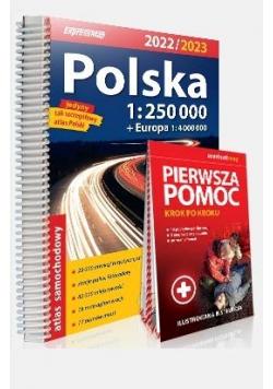 Atlas samochodowy Polska + instr. pierwszej pomocy